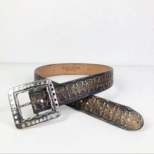 Streets Ahead Tooled Leather Silver Square Buckle